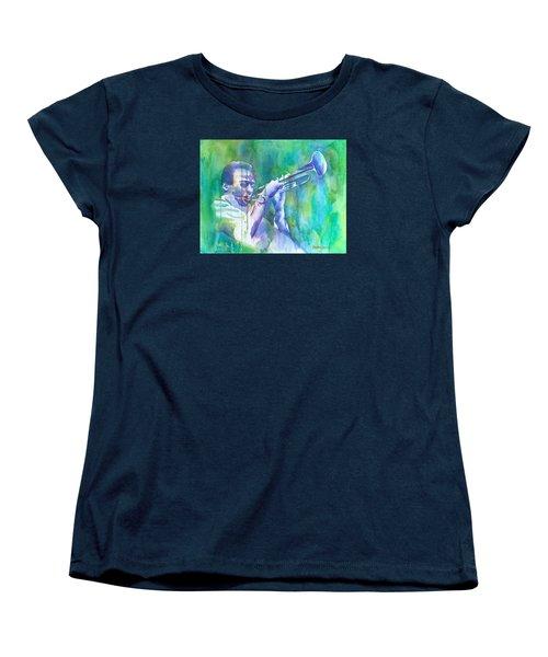 Miles Is Cool Women's T-Shirt (Standard Cut) by Debbie Lewis