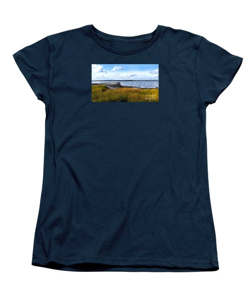 Milford Island Women's T-Shirt (Standard Cut) by Raymond Earley