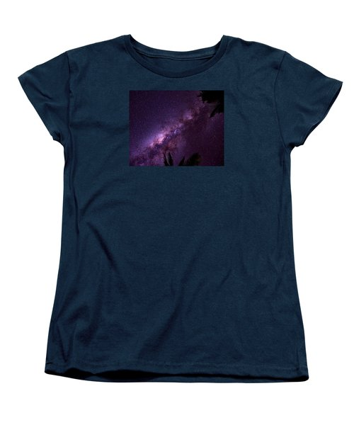 Women's T-Shirt (Standard Cut) featuring the photograph Milky Way Over Mission Beach by Avian Resources