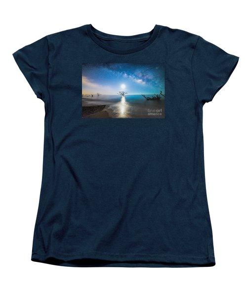 Milky Way Shore Women's T-Shirt (Standard Cut) by Robert Loe