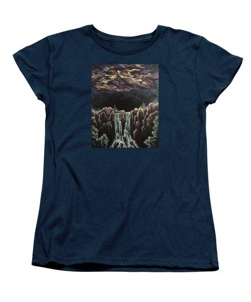 Women's T-Shirt (Standard Cut) featuring the painting Milkyway by Cheryl Pettigrew