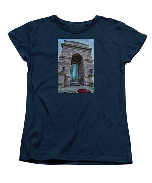 Millennium Gate Triumphal Arch At Atlantic Station In Midtown At Women's T-Shirt (Standard Cut) by Alex Grichenko