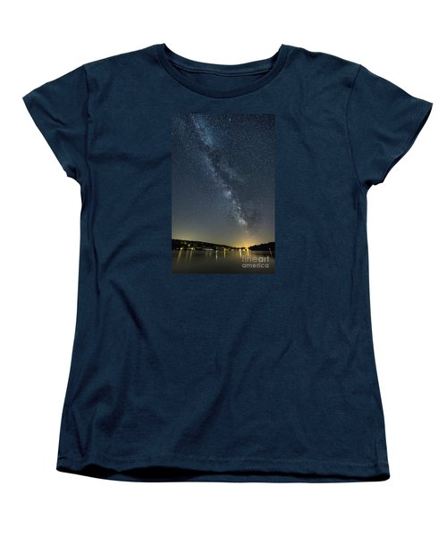 Milky Way From A Pontoon Boat Women's T-Shirt (Standard Cut) by Patrick Fennell