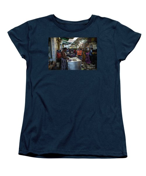 Women's T-Shirt (Standard Cut) featuring the photograph Mincing Garlic by Mike Reid