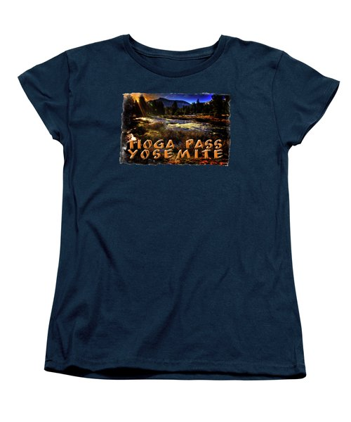 Mine Creek Between Lakes Ellery And Tioga Women's T-Shirt (Standard Cut) by Roger Passman