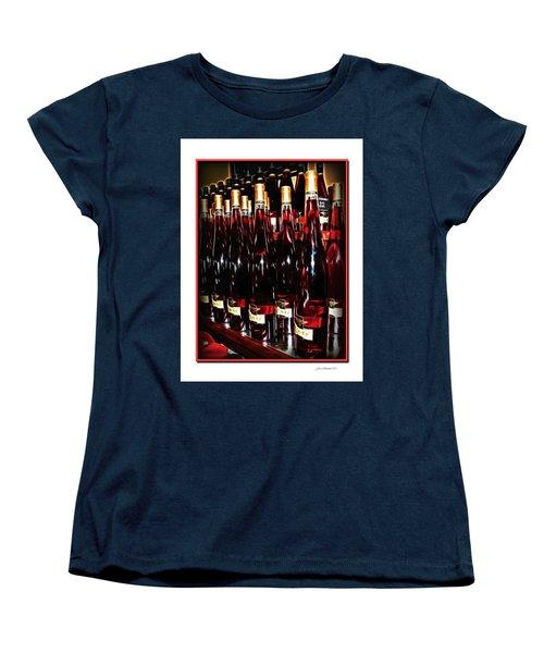 Women's T-Shirt (Standard Cut) featuring the photograph Miner Pink Sparkling Wine by Joan  Minchak