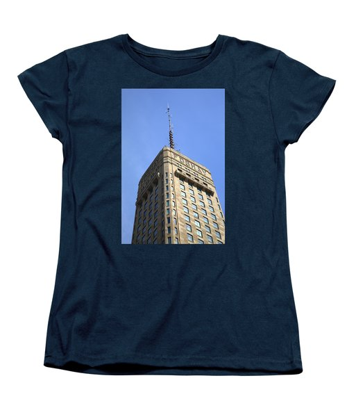 Women's T-Shirt (Standard Cut) featuring the photograph Minneapolis Tower 6 by Frank Romeo