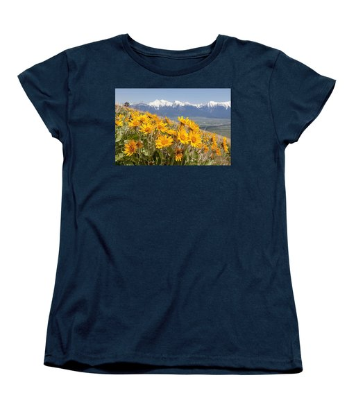 Mission Mountain Balsam Blooms Women's T-Shirt (Standard Cut) by Jack Bell