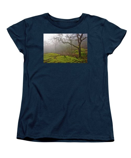 Misty Forest Women's T-Shirt (Standard Cut) by Keith Boone