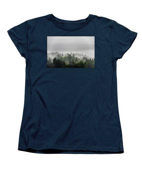 Misty Lions Gate View Women's T-Shirt (Standard Cut) by Ross G Strachan