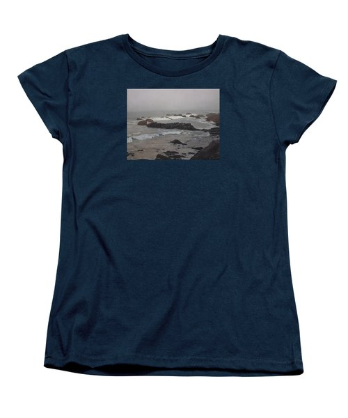 Misty Morning At Ragged Point, California Women's T-Shirt (Standard Cut) by Barbara Barber