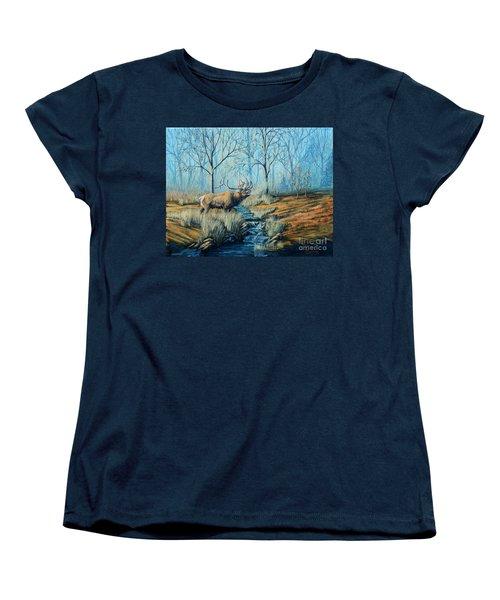 Misty Morning Bugler Women's T-Shirt (Standard Cut) by Ruanna Sion Shadd a'Dann'l Yoder