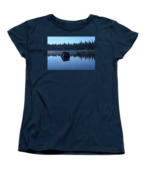Misty Summer Morning Women's T-Shirt (Standard Cut) by David Porteus