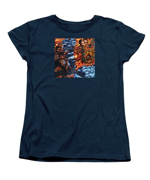 Mitosis Microbiology Landscapes Series Women's T-Shirt (Standard Cut) by Emily McLaughlin