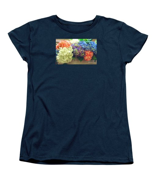 Mixed Hydrangea Women's T-Shirt (Standard Cut) by Merton Allen