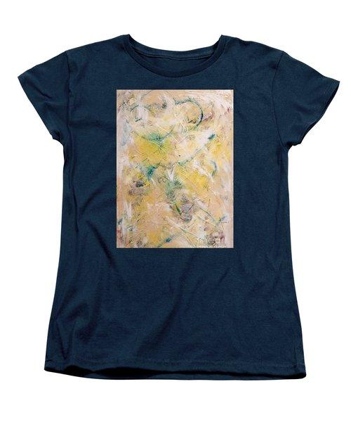 Mixed-media Free Fall Women's T-Shirt (Standard Cut) by Gallery Messina