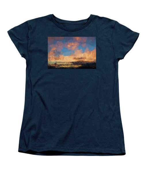 Women's T-Shirt (Standard Cut) featuring the photograph Moab Sunrise Abstract Painterly by David Gordon