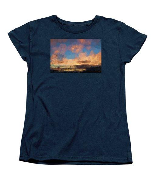 Moab Sunrise Abstract Painterly Women's T-Shirt (Standard Cut)