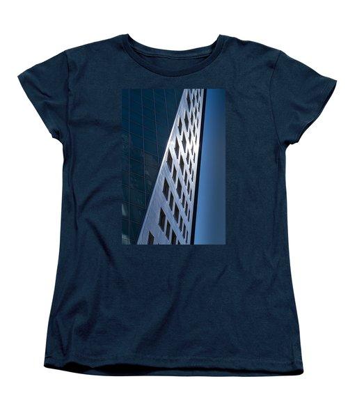 Women's T-Shirt (Standard Cut) featuring the photograph Blue Modern Apartment Building by John Williams