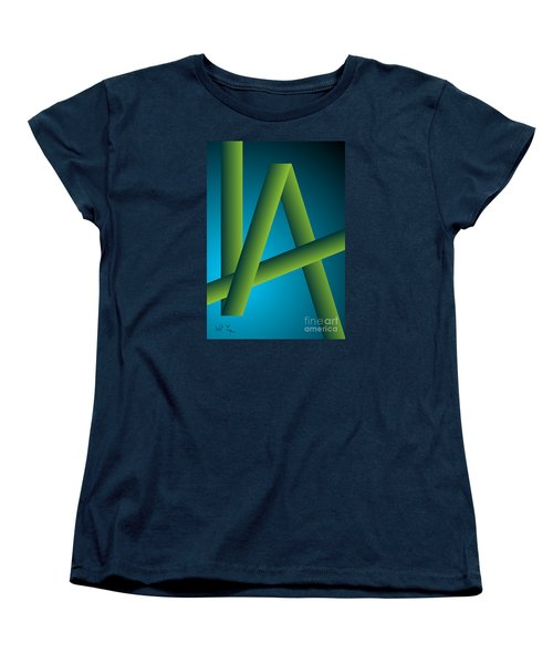 Women's T-Shirt (Standard Cut) featuring the digital art Modus by Leo Symon