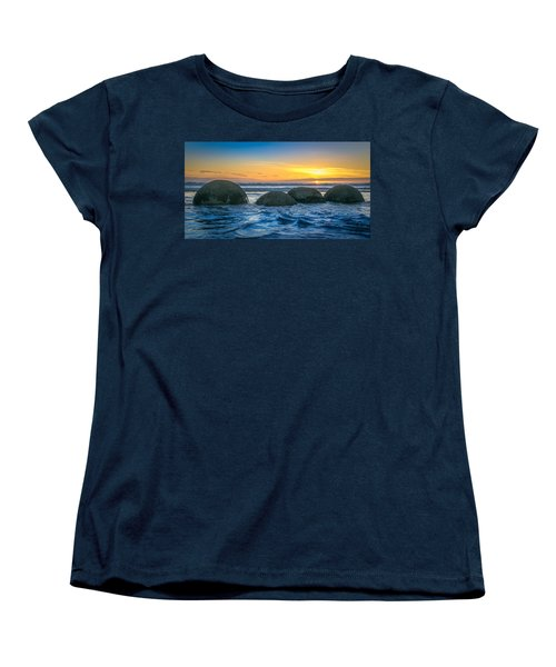 Moeraki Sunrise Women's T-Shirt (Standard Cut) by Martin Capek