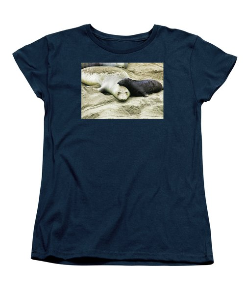Women's T-Shirt (Standard Cut) featuring the photograph Mom And Pup by Anthony Jones