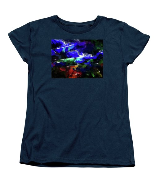 Moment In Blue Lazy River Women's T-Shirt (Standard Cut) by Cedric Hampton