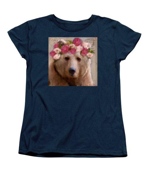 Women's T-Shirt (Standard Cut) featuring the digital art Momma Bear by Lisa Noneman