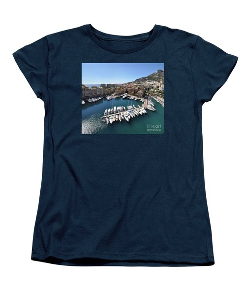 Women's T-Shirt (Standard Cut) featuring the photograph Monaco Port De Fontvieille  by Yhun Suarez