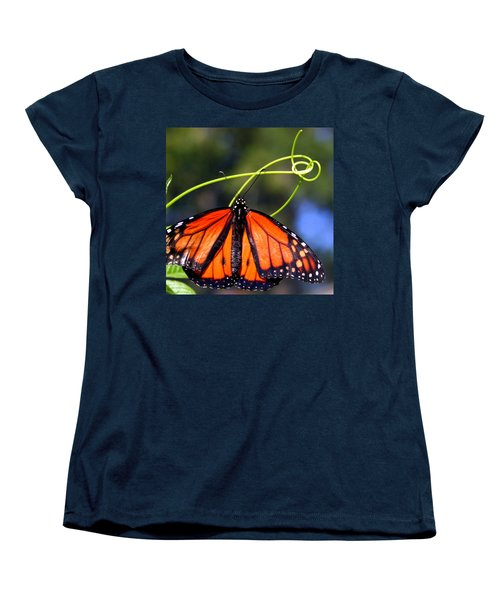 Women's T-Shirt (Standard Cut) featuring the photograph Monarch Butterfly by Laurel Talabere