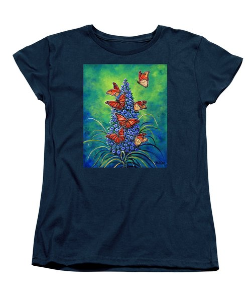Monarch Waystation Women's T-Shirt (Standard Cut) by Gail Butler