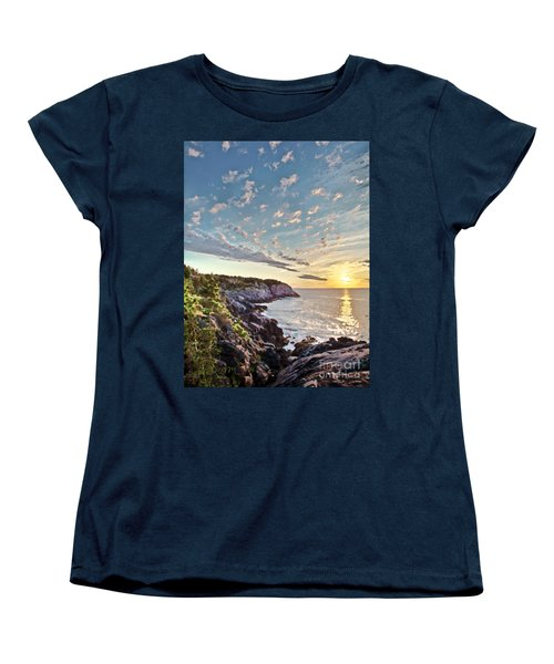 Monhegan East Shore Women's T-Shirt (Standard Cut) by Tom Cameron