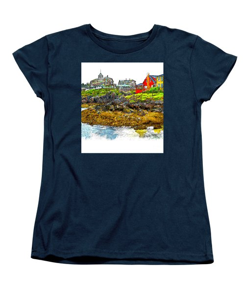 Women's T-Shirt (Standard Cut) featuring the photograph Monhegan West Shore by Tom Cameron