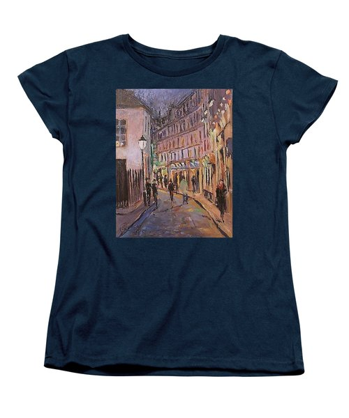 Women's T-Shirt (Standard Cut) featuring the painting Monmartre by Walter Casaravilla