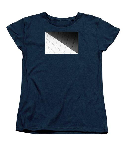 Monochrome Building Abstract 3 Women's T-Shirt (Standard Cut) by John Williams