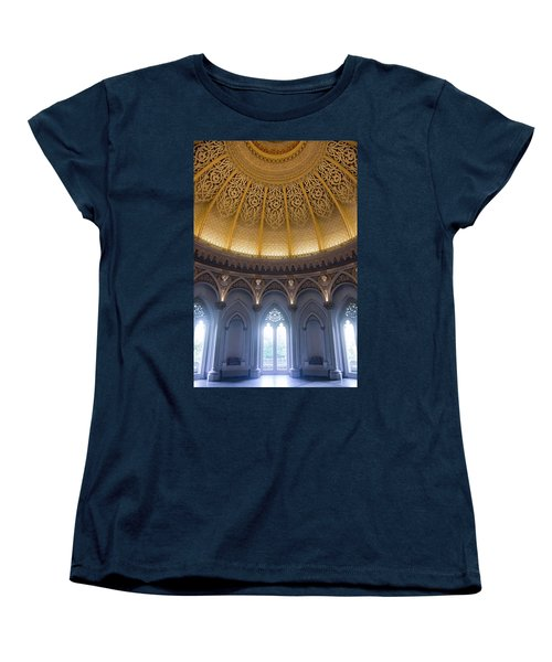Women's T-Shirt (Standard Cut) featuring the photograph Monserrate Palace Room by Carlos Caetano