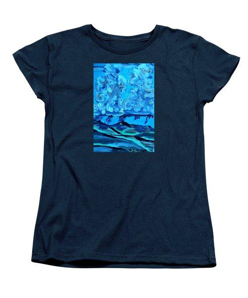 Women's T-Shirt (Standard Cut) featuring the painting Monsoon Desert Storms IIi by Carolina Liechtenstein