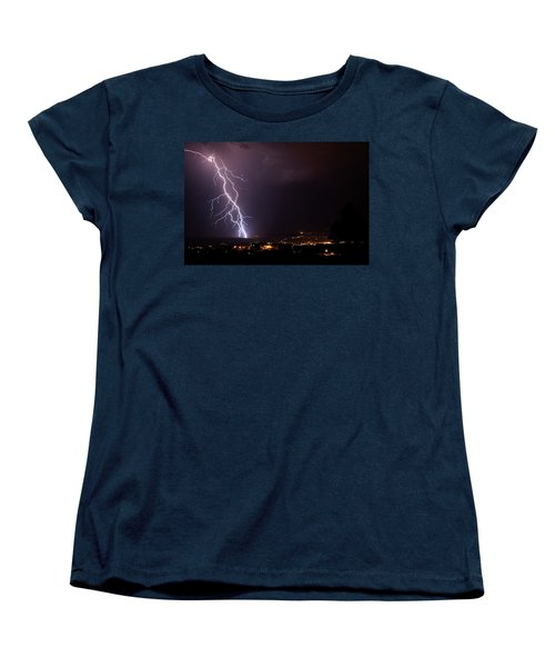 Women's T-Shirt (Standard Cut) featuring the photograph Monsoon Storm by Ron Chilston