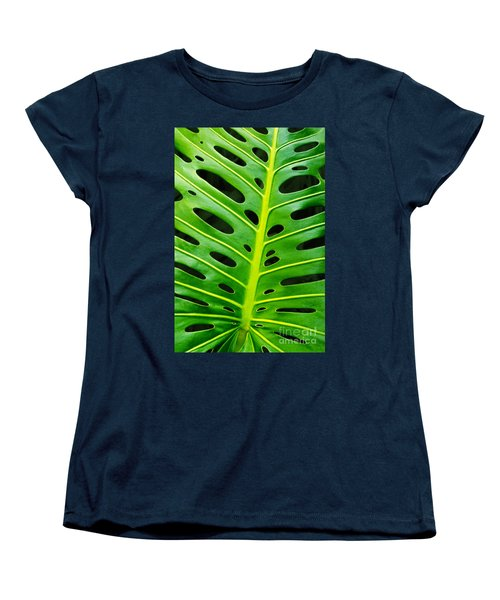 Monstera Leaf Women's T-Shirt (Standard Cut) by Carlos Caetano