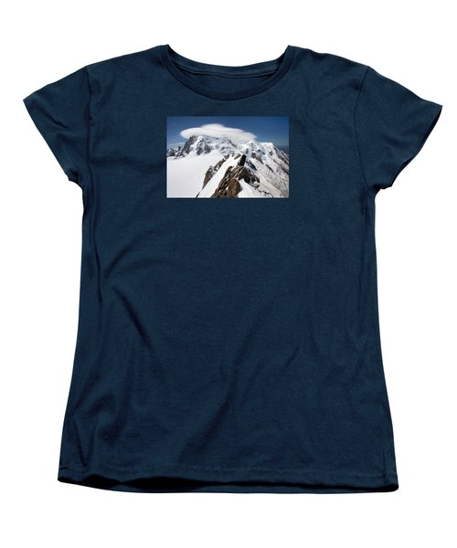 Mont Blanc And Ufo Women's T-Shirt (Standard Cut) by Aivar Mikko