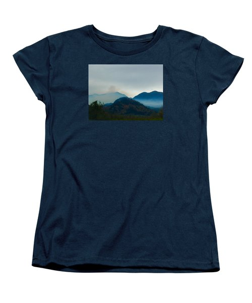 Montana Mountains Women's T-Shirt (Standard Cut) by Suzanne Lorenz