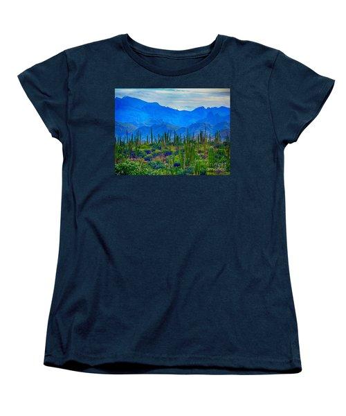 Montanas Cerca De Loreto Women's T-Shirt (Standard Cut) by Gerhardt Isringhaus