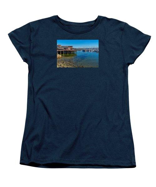 Monterey Harbor Morning Women's T-Shirt (Standard Cut) by Derek Dean