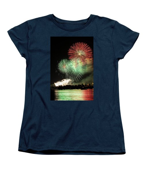 Montreal-fireworks Women's T-Shirt (Standard Cut) by Mircea Costina Photography