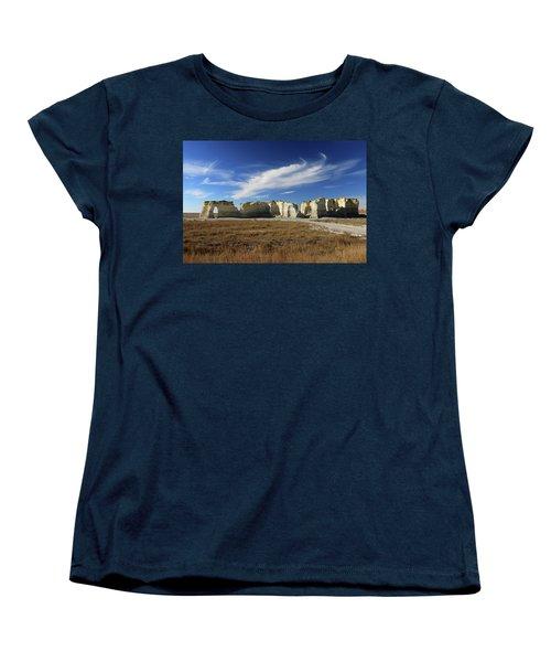 Monument Rock Afternoon  Women's T-Shirt (Standard Cut) by Christopher McKenzie