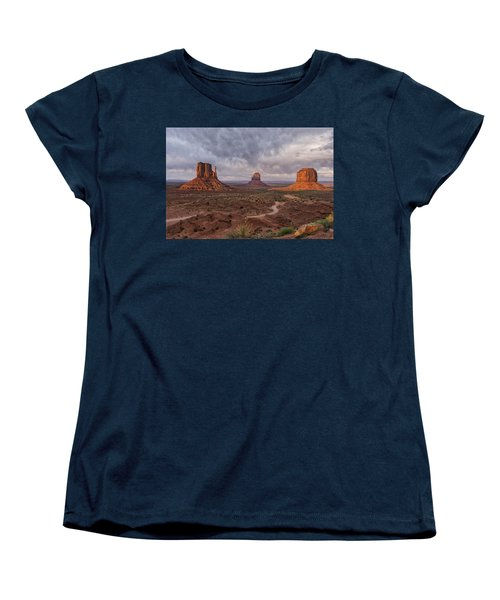 Monument Valley Mittens Az Dsc03662 Women's T-Shirt (Standard Cut) by Greg Kluempers