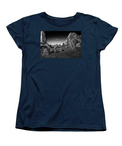 Monument Valley Rock Formations Women's T-Shirt (Standard Cut) by Phil Cardamone