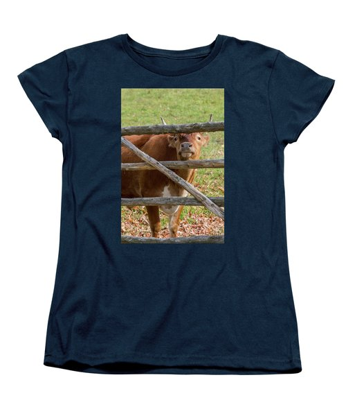 Women's T-Shirt (Standard Cut) featuring the photograph Moo by Bill Wakeley