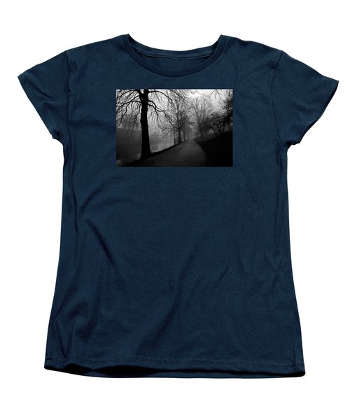 Moody And Misty Morning Women's T-Shirt (Standard Cut) by Inge Riis McDonald