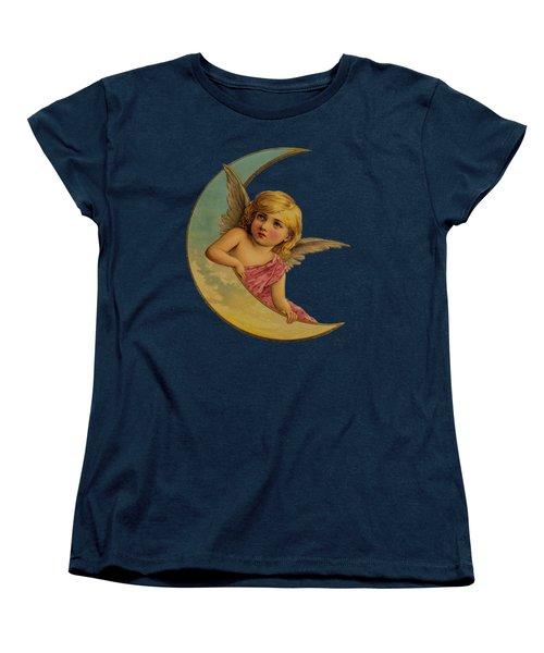 Women's T-Shirt (Standard Cut) featuring the digital art Moon Angel T Shirt Design by Bellesouth Studio